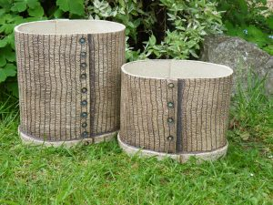 Oval planters, Weave